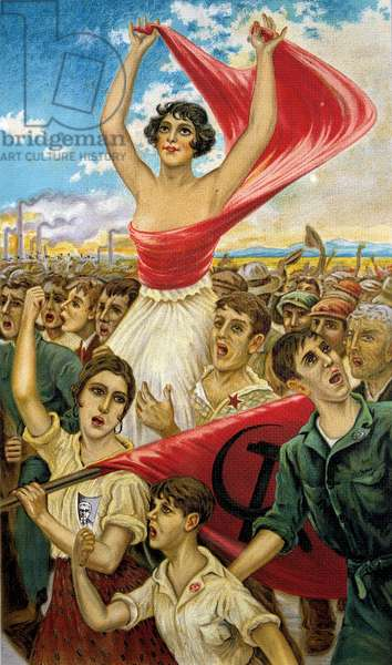 A rally during the Spanish Civil War