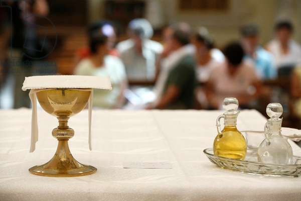 Sisters of Nazareth Convent, Catholic mass, Chalice (photo)