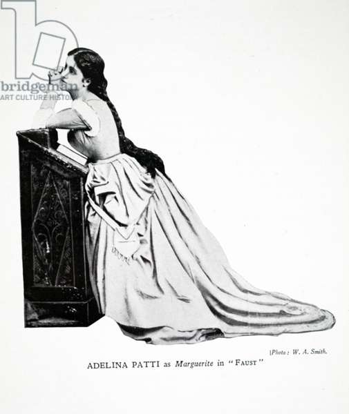 Adelina Patti as Marguerite in 'Faust'.