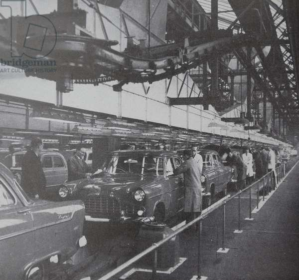 The final inspection on a motor car assembly line
