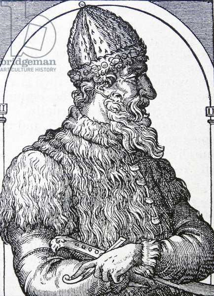 Engraving depicting Ivan III 'The Terrible'