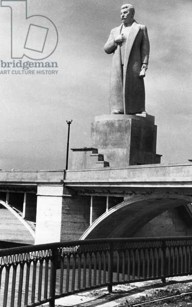 Monument to Joseph Stalin at the Entrance to the Nevinnomisk Canal, 1950.