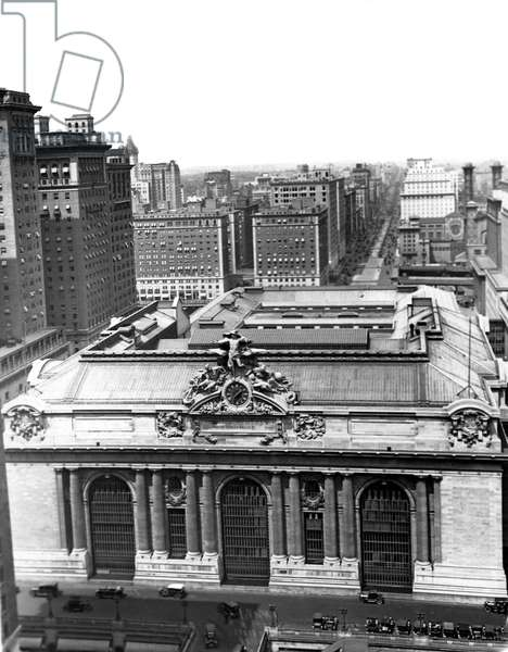 Grand Central Station  (b/w photo)