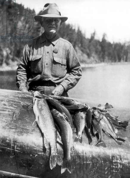 Minnesota Fishing Trip, 1927 (b/w photo)