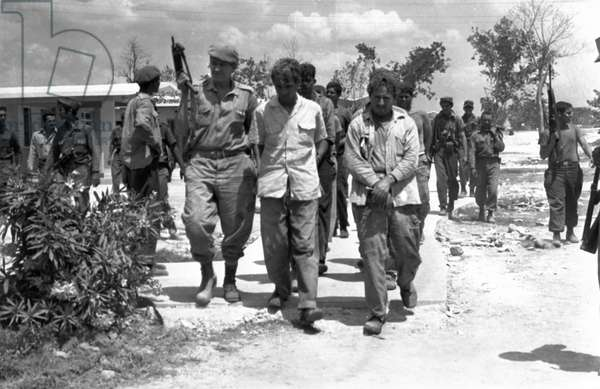 Bay of Pigs, 1961, Captured Mercenaries During the Bay of Pigs Invasion.