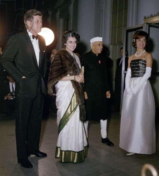 President John Kennedy with Jawaharlal Nehru, United States