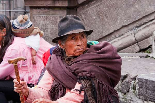 Old Woman, Quito, Pichincha, Ecuador (photo)