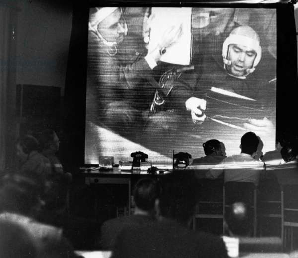 Soyuz-9, Ground Control Communicating with the Cosmonauts of Soyuz 9, 1970.