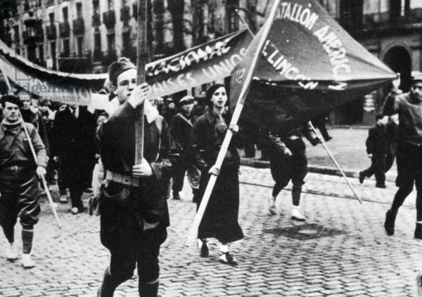 The American Lincoln battalion of the International Brigades