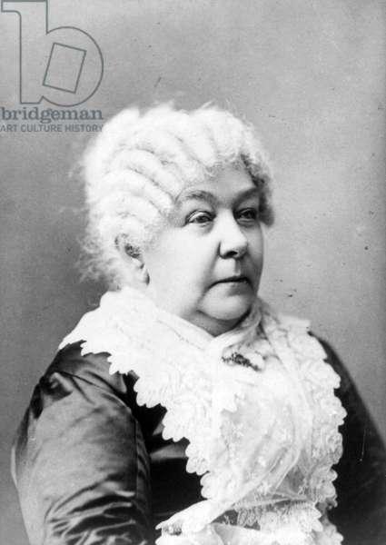 Portrait of Elizabeth Cady Stanton.