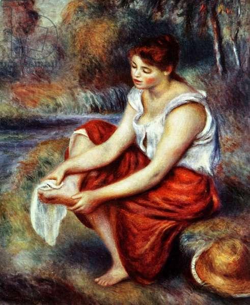 Girl Wiping her Feet, 1850