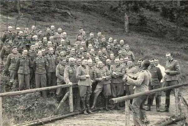 A Chorus of Auschwitz Killers (b/w photo)