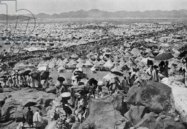 A Camp Of Muslim Pilgrims In Saudi Arabia