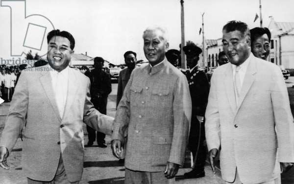 Liu Shao-chi (center), Chairman of the People's Republic of China and Vice-chairman of the Central Committee of the Communist Party of China, September 15, 1963