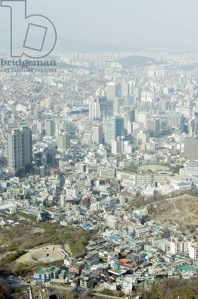 South Korea, Seoul, Namsan, N Seoul Tower (Namsan Tower), view north from tower ©Dorling Kindersley/UIG/Leemage