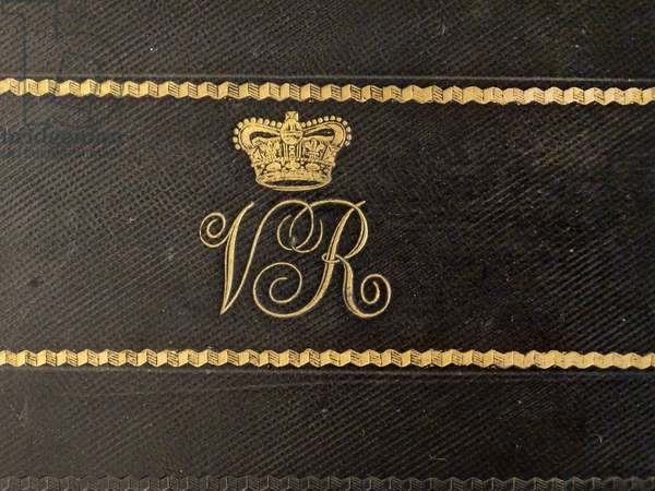 Monogram of Queen Victoria of Great Britain circa 1880