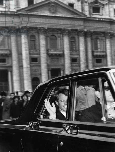 Robert Kennedy. Rome. 1966.