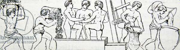 Illustration of slaves