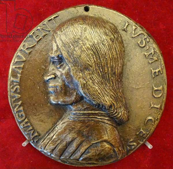 Coin depicting Lorenzo de' Medici