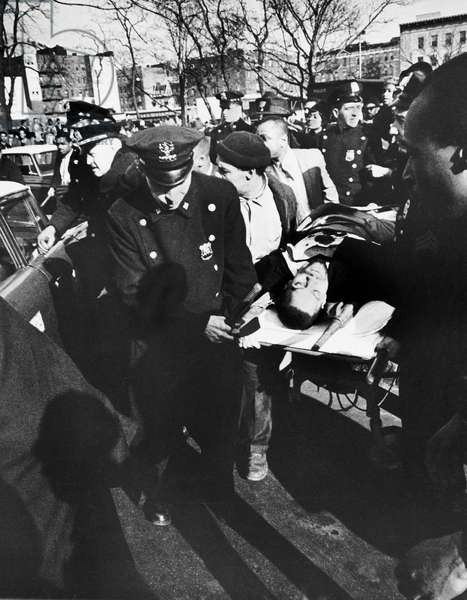 Malcolm X Assassinated In NY (b/w photo)