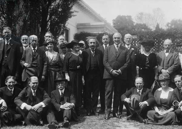 Albert Einstein and Warren Harding, 1922