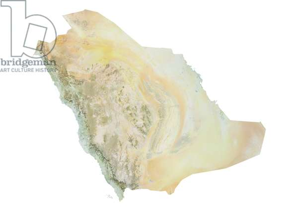 Saudi Arabia, Relief Map