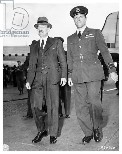 Prime Minister Clement Richard Attlee at Berlin-Gatow airfield