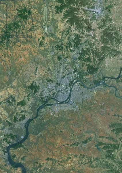 Pyongyang, North Korea in 2014 (photo)