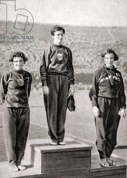 80m Hurdles podium at the 1932 Olympic games