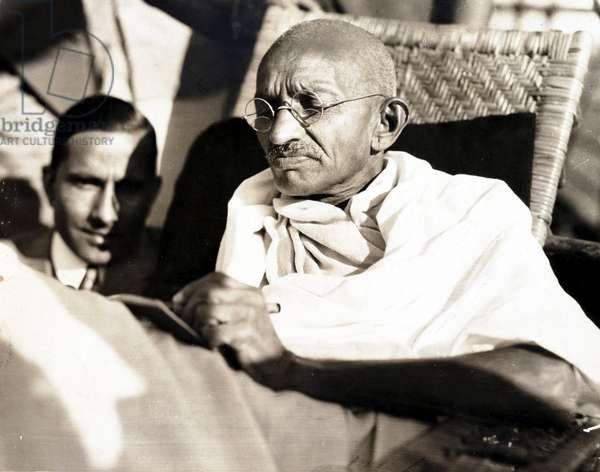 Mahatma Gandhi on board the SS 'Rajputana', 1931