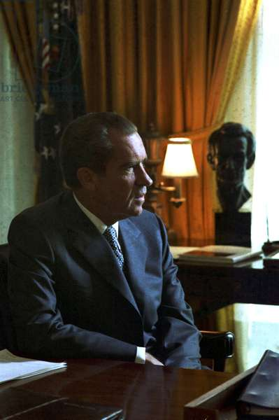 President Richard Nixon at the Whitehouse 1970. Richard Nixon was President of the USA from 1969-1974.