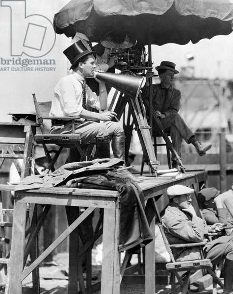 Director Rex Ingram, Hollywood, California, USA, 1921 (b/w photo)