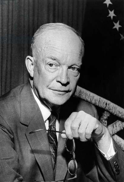 President Dwight D. Eisenhower (b/w photo)