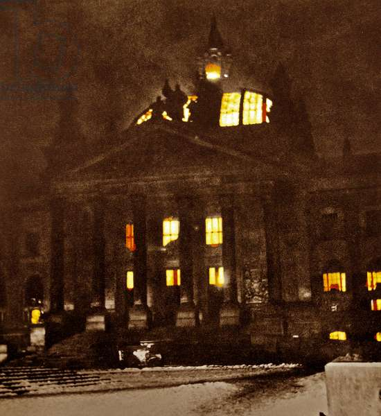 The Reichstag fire, 1933