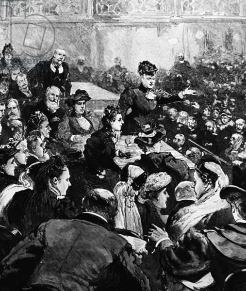 Public meeting to give support to mining families, 1893