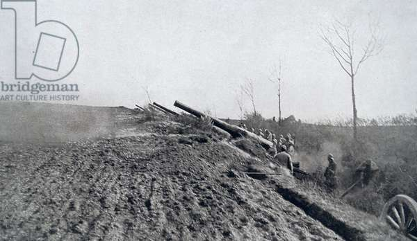 French artillery in action, 1918