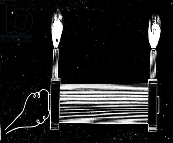 Nikola Tesla's AC experiments