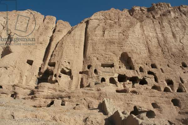 The Cliffs at Bamiyan: Caves and Grottoes, Bamian Province, Afghanistan (photo)