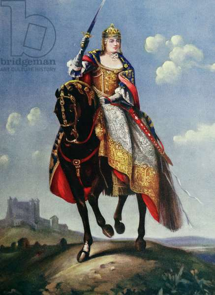 Maria Theresa on the coronation hill at Pressburg