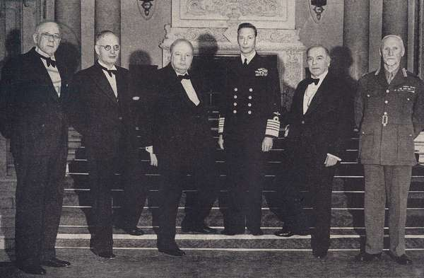 King George VI and Winston Churchill
