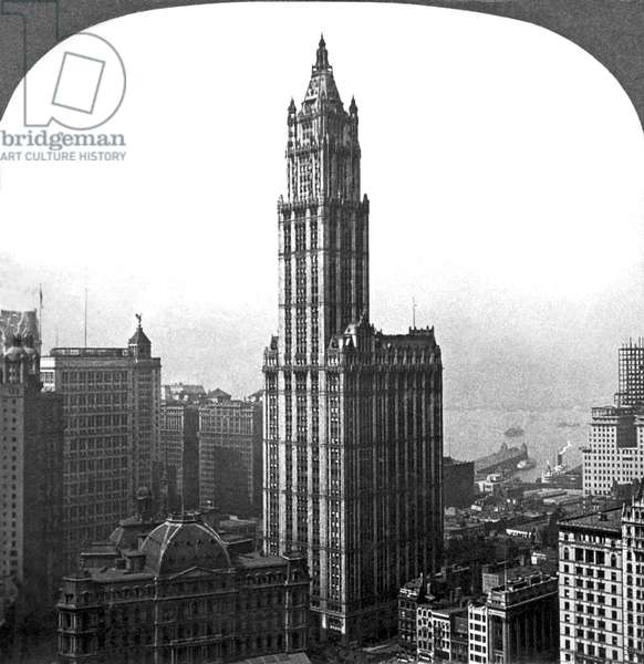 The Woolworth Building In NYC, New York, New York, c.1915 (b/w photo)