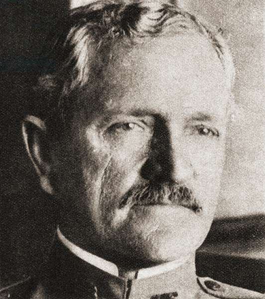 "John Joseph """"Black Jack"""" Pershing, 1860 - 1948. United States Army general who led the American Expeditionary Forces to victory over Germany in World War I. From The Pageant of the Century, published 1934 ©UIG/Leemage"