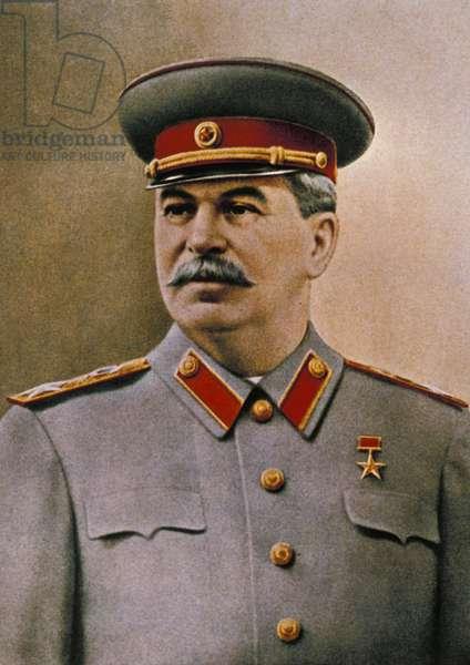 Portrait of Joseph Stalin (1879 - 1953).