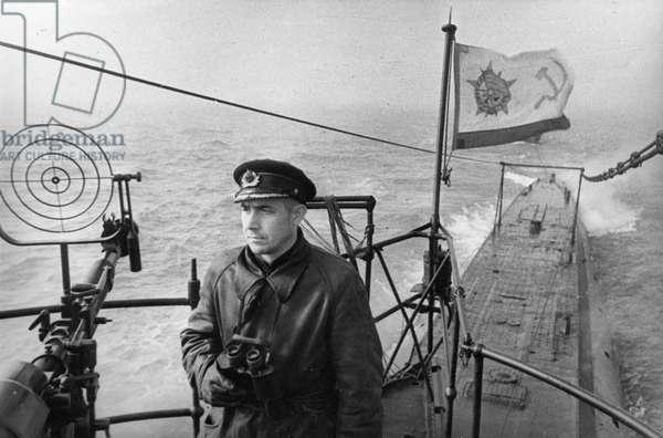 Black Sea Fleet, Soviet Submarine Commander, Captain Polyakov, Decorated with the Order of Lenin, June 1943.