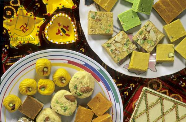 India.  Diwali Festival Sweets