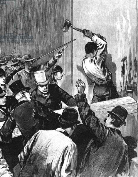 New Orleans 14 marzo 1891-Assault on the prisons of New Orleans and lynching of 11 Italian-American prisoners held responsible for the killing of David C