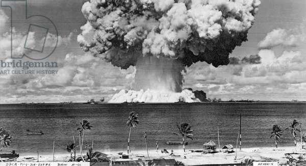 Bikini Atoll Atomic Bomb (b/w photo)