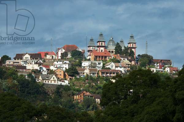Houses in Haute-Ville, Antananarivo, Madagascar (photo)