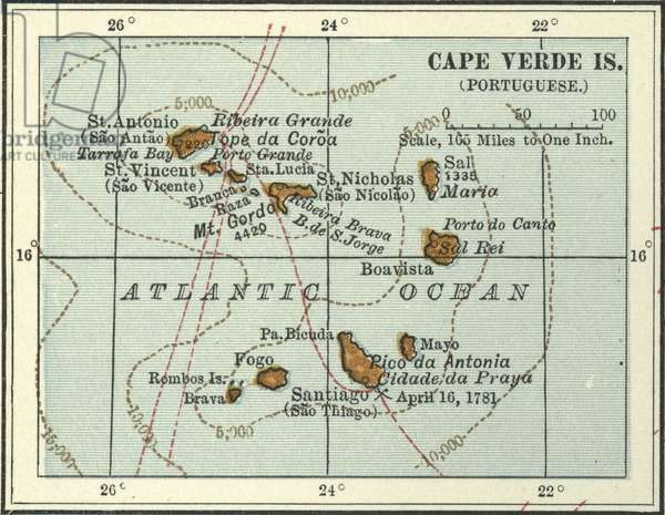 Map of  Cape Verde Islands