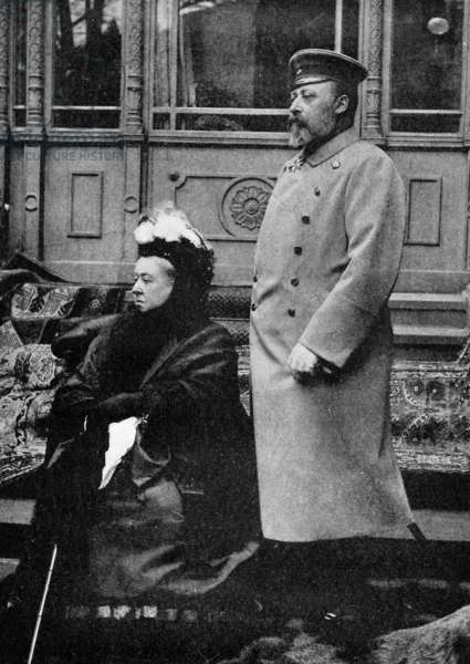 Queen Victoria with her son Edward VII of the United Kingdom